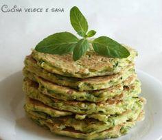 Pancakes salati alle zucchine e menta | Cucina veloce e sana