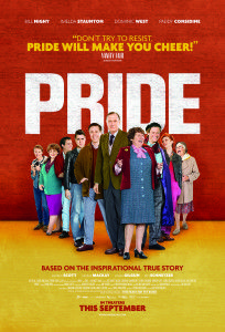 "HEPL staff review of Pride (2014). ""The film revolves around LGSM founder and leader Mark Ashton (Ben Schnetzer) and his merry band of followers, including Jonathan Blake, played by a jovial Dominic West (The Wire). At first, the well-meaning group gets turned away by the National Union of Mineworkers, who are concerned about inviting more public relations problems on themselves."""