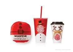 Burger King Christmas Packaging. Designed by Turner Duckworth.