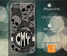 iPhone 4/4s/5 or Samsung S3 Case Custom Monogram  by CaseFase, $20.00