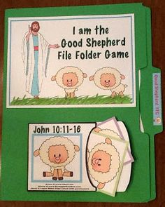 Jesus The Good Shepherd File Folder Game