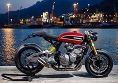 Honda special cafe racer by . Buell Cafe Racer, Cb750 Cafe Racer, Cafe Racer Motorcycle, Retro Bikes, Cb 600, Chopper, K100, Cafe Racer Magazine, Vintage Cafe Racer