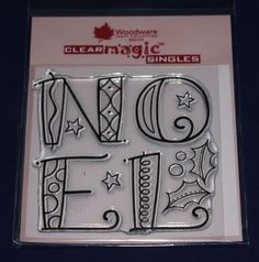 NEW Woodware  Curly Noel  Christmas Clear Stamp FRS174