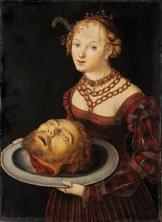 Salome with the Head of Saint John the Baptist, Lucas Cranach the Elder, early 1500s