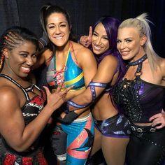 Ember Moon 🌕, Bayley, Sasha, and Dana Brooke Wrestling Superstars, Wrestling Divas, Women's Wrestling, Hottest Wwe Divas, Wwe Nxt Divas, Bailey Wwe, Lana Wwe, Wwe Outfits, Wwe Funny