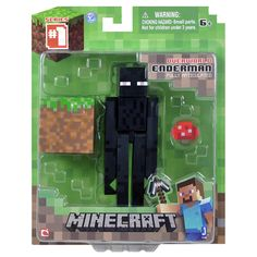 From the hit video game, Minecraft, bring home the Enderman action figure pack! Collect all Series Minecraft action figures! Minecraft Video Games, Minecraft Toys, Minecraft Cake, Minecraft Ideas, Minecraft Action Figures, Van Lego, Skylanders, Marvel Movies, Costumes