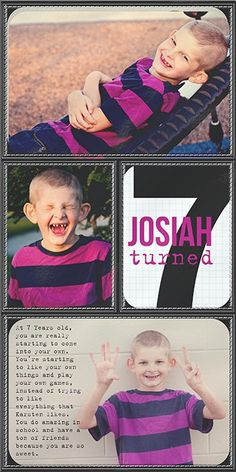 Week 1 Insert Front by Traci Reed - using inserts to document birthday portraits