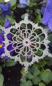 Pansy snowflake crochet pattern