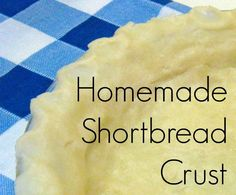 Easy Homemade Buttery Shortbread Crust is made with your hands and not a rolling pin. Melt the butter in a pie plate and add rest of the ingredients and mix. Using your hands pat dough around the pie plate into a crust. Taste just like a shortbread cookie. Perfect for cream pies. Easy Pie Crust, Homemade Pie Crusts, Pie Crust Recipes, Pastry Recipes, Baking Recipes, Shortbread Pie Crust, Homemade Shortbread, Perfect Pie Crust, Pie Dessert