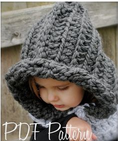 Crochet PATTERNThe Rozlinn Cowl Toddler Child door Thevelvetacorn, $5.50