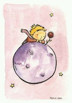 tribute to Antoine de Saint-Exupéry's The little Prince, by Maple Lam Little Prince Quotes, The Little Prince, Cute Illustration, Cute Drawings, Zentangle, Cute Art, Painting & Drawing, Watercolor Paintings, Creations