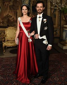 Swedish Royals Hosted a Official Dinner at Royal Palace
