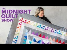 Creating A Frequency Rainbow Quilt - Page 2 of 2 Quilting Templates, Quilting Tutorials, Quilting Designs, Quilt Patterns, Rainbow Quilt, Rainbow Star, Midnight Quilt Show, Quilt In A Day, Butterfly Quilt