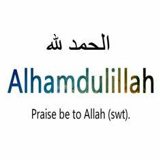 Alhamdu lillahi ♥ الحمد لله