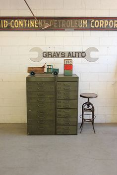 Vintage Industrial Military Dresser/ Drawers/ Printers Cabinet By Dorset Finds