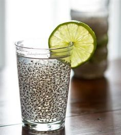 Chia Fresca from Oh She Glows ~ What to Do With Chia Seeds|Craving Something Healthy.