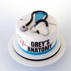 Greys Anatomy Logo, Greys Anatomy Funny, Grey's Anatomy, Medical Cake, Medical Party, 14th Birthday Cakes, Beautiful Birthday Cakes, My Dream Cake, Doctor Cake