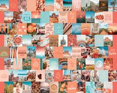 Wall Collage Decor, Photo Wall Collage, Photo Wall Art, Collage Walls, Picture Collages, Picture Walls, Photo Walls, Collage Ideas, Peach Aesthetic