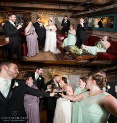 Brewery Wedding Photo Ideas | Bar Room Wedding Party | Brown's Revolution Hall Wedding | Wedding Photos | Lucy Schultz Photography | Colorado Wedding Photographer | Romantic Wedding Photos