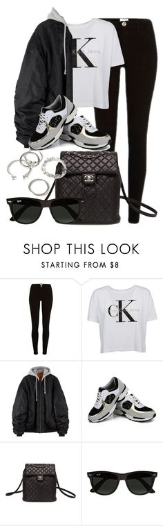 """Untitled #11870"" by vany-alvarado ❤ liked on Polyvore featuring Calvin Klein, Chanel, Ray-Ban and Forever 21"