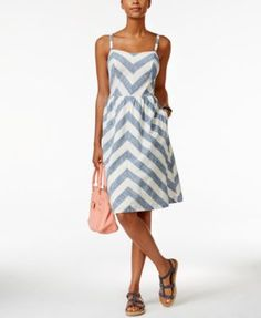 Tommy Hilfiger Chevron Fit & Flare Dress Sale $66.99 extra 25% off