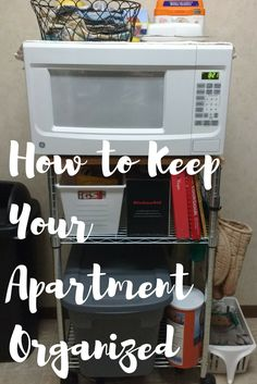 Great ideas to keep your apartment organized.
