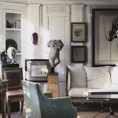 Interior with sculpture