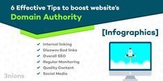 6 Effective Tips to boost website's #domainauthority [Infographics]