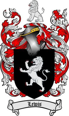 LEWIS FAMILY CREST - COAT OF ARMS gifts at www.4crests.com