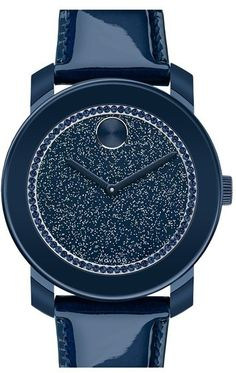 Navy Leather Watch by Movado. Buy for $495 from Nordstrom