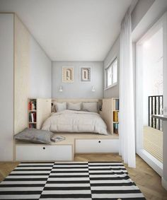 Bedroom Design Ideas for Small Rooms 2019 . 43 Elegant Bedroom Design Ideas for Small Rooms 2019 . 42 New Bedroom Decorating Ideas for Small Spaces Tiny Bedroom Design, Small Room Design, Tiny House Design, Interior Design Ideas For Small Spaces, Small Bedroom Storage, Bedroom Small, Tiny Bedrooms, Master Bedroom, Master Suite