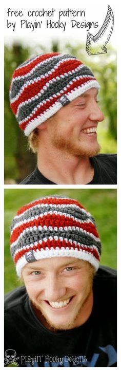 Brain Waves Beanie Free Crochet Pattern