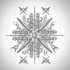 Роза мира) По мотивам предыдущего эскиза. Сделай религию сам. #windrose #windrosetattoo #crosstattoo #knives #newreligion #linework #blacktattoo #blackwork #dotwork #frvrfrrs #churchofsomethingelse #spbtattoo #msktattoo