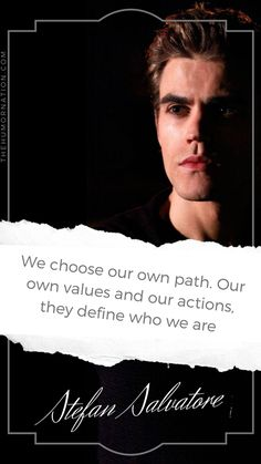 7 Amazing Stefan Salvatore Lock Screen Quotes That Will Rock Your Phone - Make The World Smile- Humor Nation Vampire Diaries Poster, Vampire Diaries Quotes, Vampire Diaries Wallpaper, Paul Wesley Vampire Diaries, Damon Salvatore Vampire Diaries, Vampire Diaries The Originals, Vampire Quotes, Tvd Quotes, Stefan Salvatore Quotes