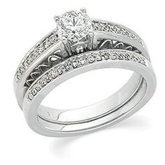 @Matt Nickles Valk Chuah Jewelry Hut Fancy Designer Antique Retro. Vintage Style Diamonds, The most Precious of Gems, in Platinum Engagement Ring and Wedding Band Set on Sale $2,718.00
