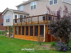 Under Deck Screen Porch, Johnston (with Hot Tub) | Archadeck Outdoor Living of Central Iowa