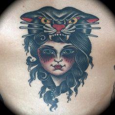 Kim-Ahn Guyen - Salon Serpent Amsterdam - tattoo - lady panther