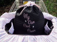 Sweethearts - Shopping Cart Cover - Dogs - Pets - Drawstring Tote Included - Customize With Your Own Colors and Patterns - pinned by pin4etsy.com