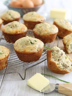 These sausage cheddar breakfast muffins are perfect for grabbing a quick breakfast to go.