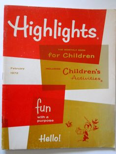 Do you remember what it was like to go to the mailbox and have there be something in it for you?  I do!  My mom got me a subscription of Highlights for many years and I loved it every month when it came for me.  Thanks, Mom!