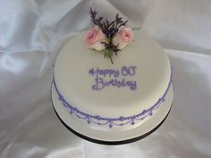80th Birthday Cake Fresh Flowers