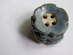 blue flower buttons by sheppardhandmade on Etsy, $6.00