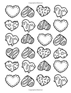 93 Best Cupcakes + Cakes Coloring Pages for Adults images