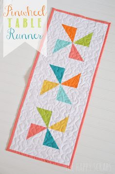 See this fun Table Runner that can be used for Spring and Summer.