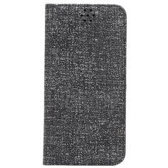 Automatische Absaugung Cloth Texture-Halter-Standplatz-TPU   PU-Leder Tasche für iPhone 6 Plus 6S Plus schwarz