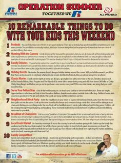 Ten things to do with your kids over the weekend