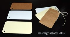 50 Blank Tags, Wedding Tags, Favor Tags, Scrapbook Tags, Wedding Escort Tags, Bookmark Tags, Kraft Paper Tags by DesignsByZal on Etsy