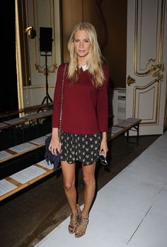 Poppy Delevingne at the Fashion East Front Row #lfw