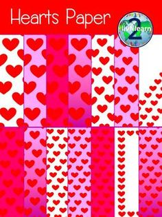 Hearts Paper FREEBIE! Enjoy using this set of heart papers in any original creation! 14 different designs included at 300 dpi for better printing quality. These can be used in your products for personal or commercial use.Please be sure to secure them in your original creation and to provide a hyperlinked credit button back to my store.