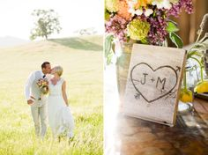 cute wooden sign for centerpieces.